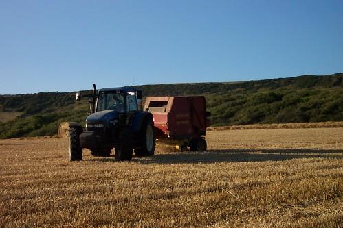 Tractor Bailing Hay
