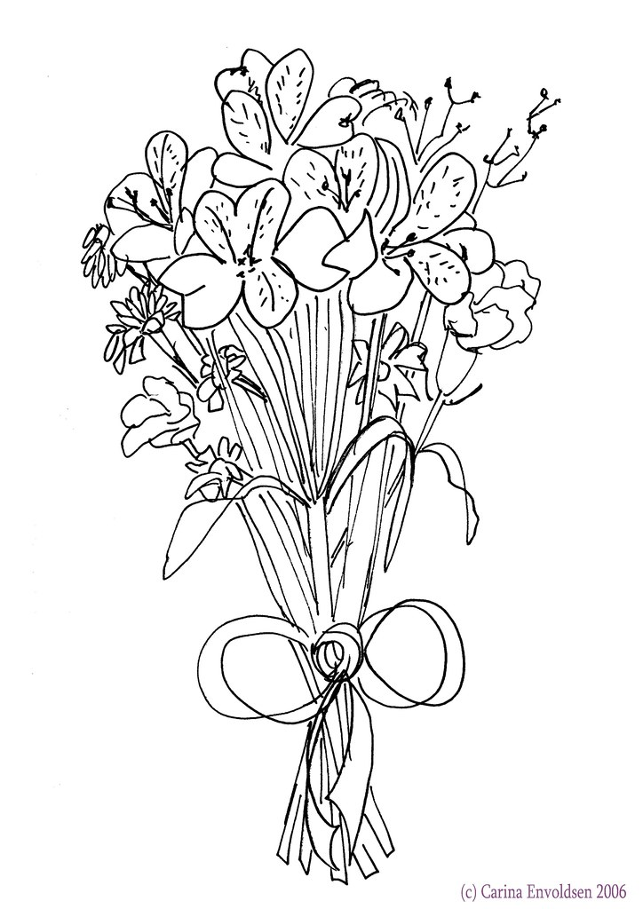 Wedding Flower Line Drawing : Alternative to bridal bouquet