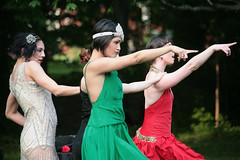 Pointer Sisters (peterkelly) Tags: red ontario canada tiara green digital women dress dancing guelph dancer northamerica pointing 2015 exhibitionpark froginhand guelphcontemporarydancefestival guelphdancefestival