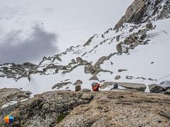 4c Crux pitch (HendrikMorkel) Tags: mountains alps mountaineering chamonix alpineclimbing arêtedescosmiques arcteryxalpineacademy2015