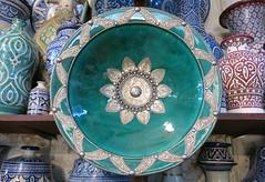 Sunday Colours - Beautiful Ceramics (Pushapoze (MASA)) Tags: ceramics morocco fez maroc plates plateaux