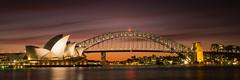 Shine a little light (mezuni) Tags: sunset famous sydney landmarks australia landmark nsw newsouthwales touristspot sydneyoperahouse sydneyharbourbridge oceania