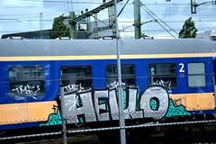 traingraffiti (wojofoto) Tags: hello holland graffiti nederland netherland traingraffiti wolfgangjosten wojofoto treingraffiti