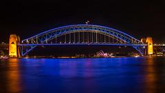 Vivid Harbour Bridge Sydney (Bezzzman) Tags: new bridge house wales point opera harbour south sydney vivid australia icon mcmahons benelong