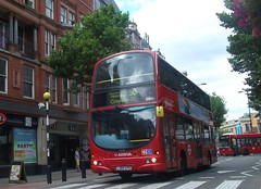Arriva  London DW91 on route 50 Croydon 01/08/15. (Ledlon89) Tags: bus london transport croydon londonbus tfl bsues croydonbuses