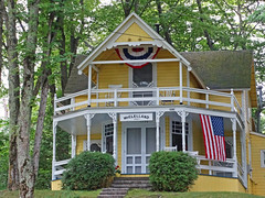 Bay View Cottage (Atelier Teee) Tags: michigan flag cottage bayview bunting atelierteee terencefaircloth
