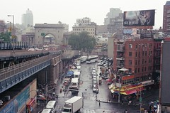 Da Real Chi-Town (kliqs) Tags: china new york city nyc film canon buildings 1 town chinatown traffic ae ar1