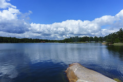 Cloudy sky (Henrik Olof Nystrm) Tags: sea summer nature water clouds bay coast sweden eastcoast vstervik