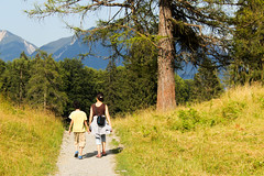 wanderlust (BorisWorkshop) Tags: sky people mountain tree nature grass pine forest way walking wanderlust