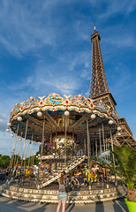 Paris June 2015 (7) 231 - Saturday night at the Eiffel Tower (Mark Schofield @ JB Schofield) Tags: street people paris france tower french ride roundabout saturday carousel eiffel stgermain