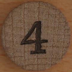 Bingo Number 4 (Leo Reynolds) Tags: xleol30x squaredcircle number numberbingo xsquarex bingo lotto loto houseyhousey housey housie housiehousie numberset onedigit 4 four sqset119 grouponedigit canon eos 40d xx2015xx
