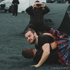 Smile !  Candid Camera ! (FotoFling Scotland) Tags: camera male mobile beard scotland kilt photographer event wrestler shooter highlandgames kilted bridgeofallan upkilt bridgeofallanhighlandgames paulcraig scottishwrestlingbond wrestlingbond yoannsalan