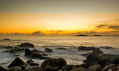 Sunset over Samson (nds6346) Tags: ocean sunset sea sky seascape beach water landscape coast seaside nikon waves sundown outdoor timeexposure shore coastline scilly nikond40