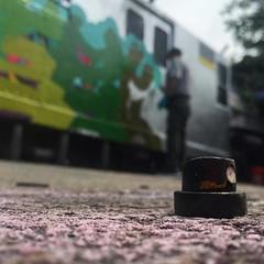 """""""PRIZ-ONE PAINTING AT TAT's."""" *streetartnyc.org (""""OLDSCHOOL SUBWAY GRAFFITI WRITER!"""") Tags: graffiti walls priz tsf prizone 1980s subwaygraffiti broadway writers yards nyc trains tds tmt pz prz prizmatic prizzypriz prizo prizmagicacity prizzy prizmagic prizma prizm prisms prismpriz prismone prismaticacity prisma prismatic prism tsfcrew"""