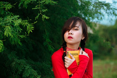 You Are What You Read (Kix Navidad) Tags: girl emotions beauty ambient asian conceptual people female feels book green nature