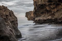 balance (zumponer) Tags: line balance sand fullframe dlsr ocean sea water motion waves rock rocks hdr landscapephotography 50mm canon canon5dmarkii florida beach landscape