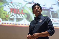 Grant Imahara of Mythbusters fame, talks about Innovation in the Maker Movement on Center Stage. World Maker Faire 2016