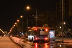 Solaris Urbino 12 CNG (Neobus Citta) Tags: solaris urbino cng novi sad jgsp night street bus stop omnibus autobus opnv snow