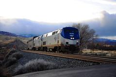 AMTRAK #6 crossing Stag Lane. (Narodnie Mstiteli) Tags: staglane reno nevada rail passengertrain californiazephyr train6 amtk202