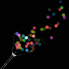cheers! (brescia, italy) (bloodybee) Tags: 365project cheers toast martini glass bokeh colors black square drink
