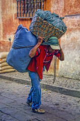 Going To Market 6 (Artypixall) Tags: guatemala chichicastenango man carrying bundle urbanscene street