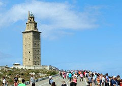 5330-Torre de Hercules (A Coruña) (jl.cernadas) Tags: torre hercules faro monumento patrimonio gente xente piedra pedra stone