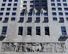InterContinental Chicago Magnificent Mile (Just Back) Tags: stone architecture building assyrian relief frieze sculpture masons hotel chicago illinois ill il windows math parallel glass angle line physics quality procession bull king