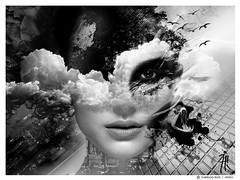 Contaminacion interior (| Photograper | Digital Artist |) Tags: wow me dark gothic destroyed feeling city contaminacion interior oscura oscuridad woman girl face rostro cara mujer chica byn bw surreal surrealism surrealista surrealismo art arte