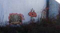 Ohmy, Hiya (Randall 667) Tags: rhode island east providence graffiti street art artist writer ohmy hiya urban exploring outcast crew cat sloe reak decay