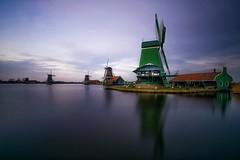 Zaanse Schans (karinavera) Tags: travel sonya7r2 filter longexposure sunset day windmills nd netherlands nikond5300 zaandam zaanseschans