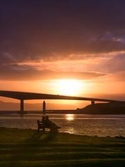 Path to Skye (Teemu Kustila Photography) Tags: outdoor skye scotland sunset light shadow beautiful leefilters bridge silhouette sea atlantic