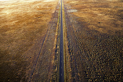 Road to gold (Jay Daley) Tags: aerial done sony a7rll zeiss loxia 21mm nsw australia sunrise road