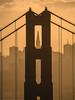 Golden (nexotal) Tags: goldhour goldengatebridge framed transamerica building sanfrancisco silhouette