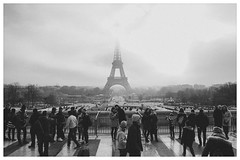Vintage Paris (Gaetan682) Tags: iso moyen grains traitement france capitale ciel nuages pz sel 1650 photographer love blackandwhite noiretblanc bw gens personnes autumn ios lightroom vintage nb winter a6k a6000 6000 alpha sony me follow like eiffeltower toureiffel paris
