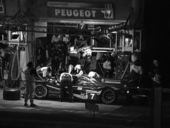B&W Peugeot Driver Changeover LM2011 - P6122597 (Welsh Scrum Half) Tags: lemans lemans24heures olympuse3 motorsport peugeot carracing endurance enduranceracing peugeot908hdi sportscarracing racingcars throughthenight prototype sportsprototype