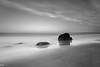 Crane Beach (MikeWeinhold) Tags: cranebeach ipswich massachusetts northshore newengland beach ocean oceanscape seascape rocks longexposure tide bigstopper clouds leefilters blackandwhite cpl