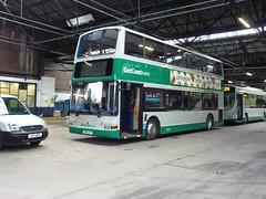 East Coast Buses Dennis Trident SLF Plaxton President SN11AYF 20622 at Musselburgh depot on 19 January 2017. Formerly Lothian 622. (Robin Dickson 1) Tags: lothian lothianbuses eastcoastbuses dennistrident plaxtonpresident sn51ayf busesedinburgh