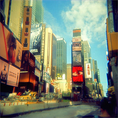 new york city (thomasw.) Tags: holga expired analog cross crossed street newyork unitedstates usa northamerica nordamerika travel