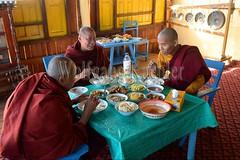 30098670 (wolfgangkaehler) Tags: asia asian southeastasia myanmar burma burmese inlelake taungtovillage villagelife villagescene village people person monastery monasteries buddhism buddhist buddhistmonk buddhistmonks buddhistmonastery buddhistmonasteries monk monks eating