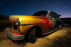 Low and Slow (dejavue.us) Tags: california longexposure nightphotography lightpainting abandoned nikon desert fullmoon nikkor antelopevalley startrails mojavedesert d800 1835mmf3545d vle