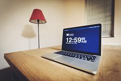 12:59:60 BST | Leap Second (James_Beard) Tags: apple wideangle canon1740 leapsecond macbookpro canon6d