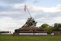 Marine Corps Sunset Parade  (204)16 June 2015 (smata2) Tags: usmc military marinecorps arlingtonva marinecorpsmemorial marinecorpssunsetparade marinesdrumcorps