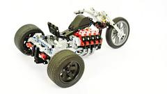 Lego Technic Trike (MOC) (hajdekr) Tags: motion wheel race automobile ride ultimate extreme engine racing motorbike technic motorcycle vehicle trike v8 racer moc legotechnic myowncreation legointerest tricycleproductcategory v8enginepistonconfiguration