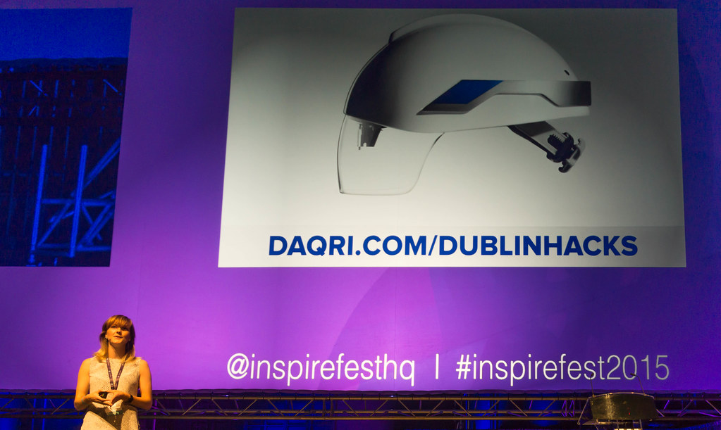 GAIA DEMPSEY AT INSPIREFEST 2015 [CO-FOUNDER, MANAGING DIRECTOR, DAQRI INTERNATIONAL] REF-105811