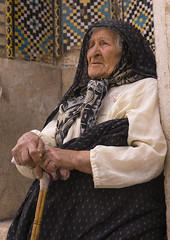 Old Woman, Fars Province, Shiraz, Iran (Eric Lafforgue) Tags: portrait people woman color colour senior cane vertical outdoors person photography clothing asia veiled veil adult iran head traditional persia human shiraz orient adultsonly oneperson islamic onewomanonly seniorwomen   colourimage 1people  iro  farsprovince  iran150357