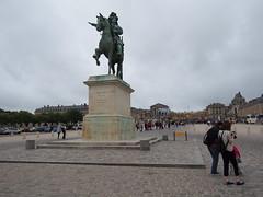 Louis XIV infront of his castle!