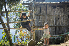Brother And Sister (Tapas Ghosh Photography) Tags: girls boy portrait people india game boys girl kids youth children person asia village child play outdoor central games human tribes mon recreation tribe chui individual nagaland konyak indomongoloid konyaks