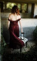 Temps Perdu (ElisaPaciPhotography) Tags: light red portrait woman art fashion time fineart redhead concept shoulders conceptual tempo frekles