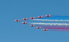 Red Arrows flyover 4th July 2015 (Kay Bea Chisholm) Tags: display flyover redarrows aerobatics rivermersey