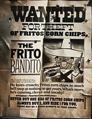 The Frito Bandito (theeqwlzr) Tags: advertising southerncalifornia rememberwhen wantedposter flickrfriday fritobandito canonrebelxti sandimascalifornia